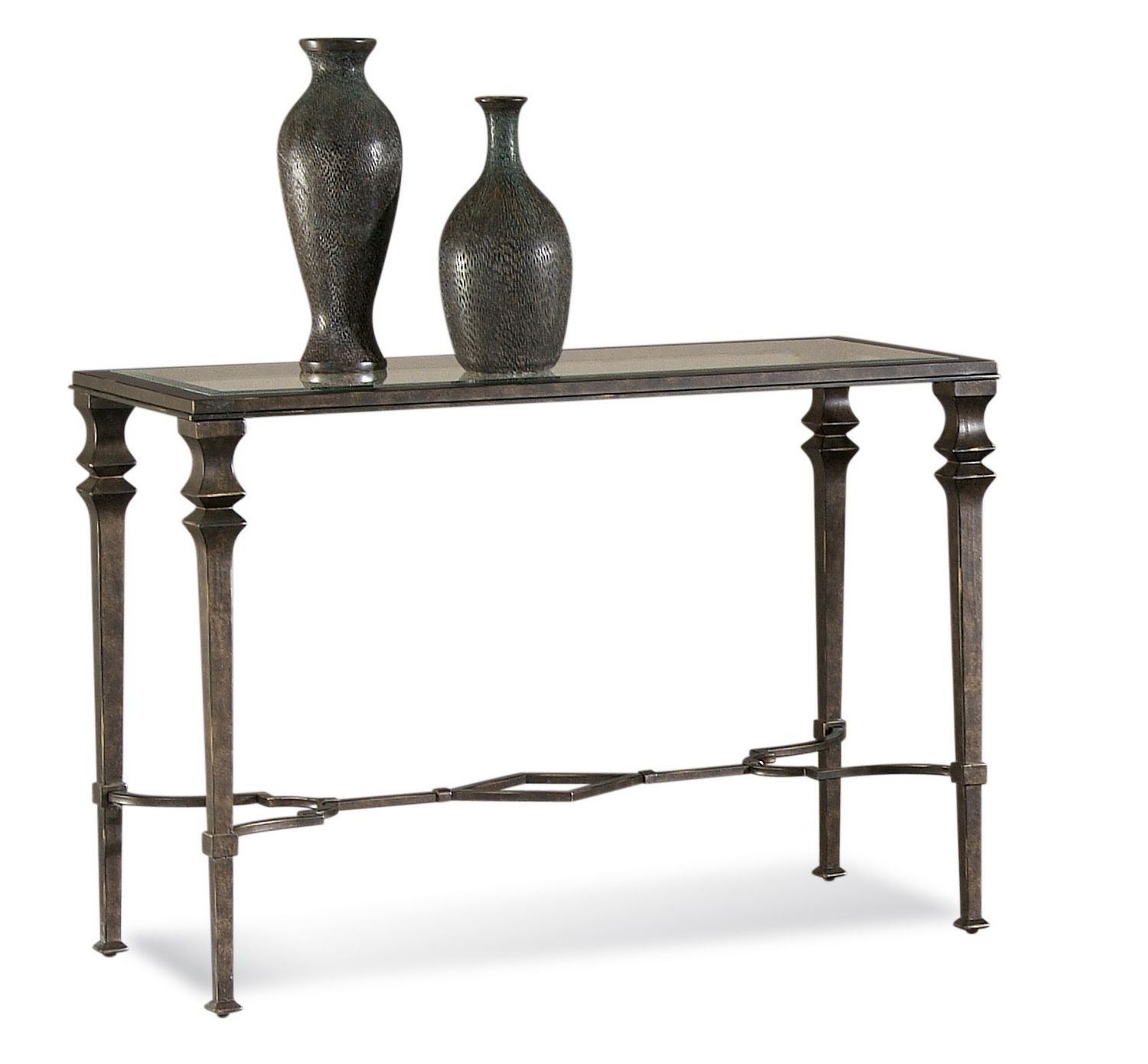 Glass Top Console Table Glass Top Console Table In Burnished Bronze Finish Lido