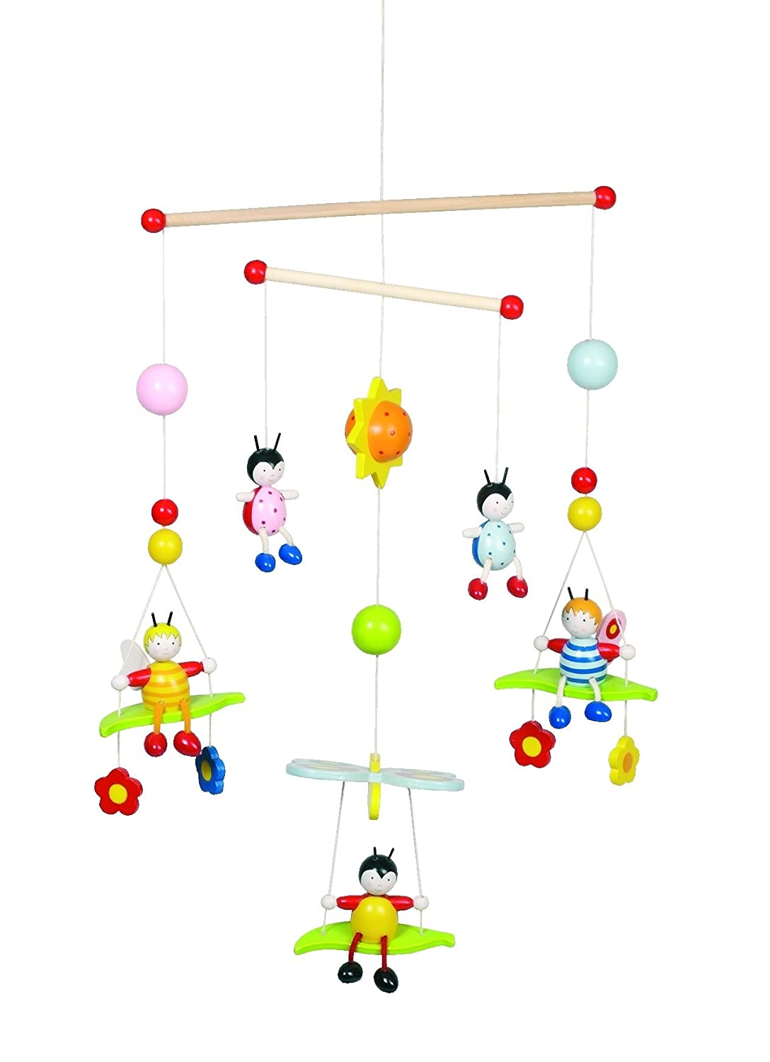 Wooden Baby Mobile Goki 52954 Wooden Mobile Beetles And Bees Wooden Nursery