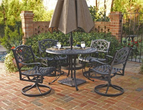 Patio Sets Clearance Home Styles 5554 305 Biscayne 5 Piece Outdoor Dining Set Black Finish 42 - Garden Furniture Dining Set Clearance