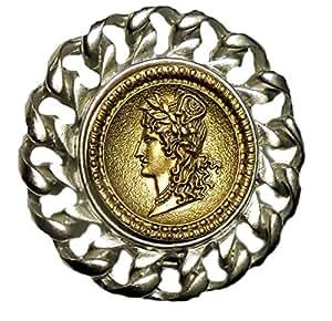 Amazoncom Copy Of Roman Coin Magnetic Pin Eyeglass Id