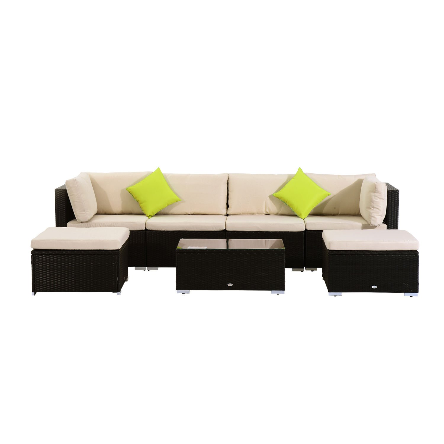 Gartenmöbel Rattan Couch Outsunny Poly Rattan Gartenmöbel 21tlg Rattan Garten Set