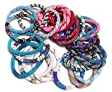 Handmade Nepal glass beaded bracelets Roll On Bracelet - multi color (set of 12)