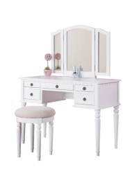White Make Up Vanity Table Sets With Mirror And Stool ...