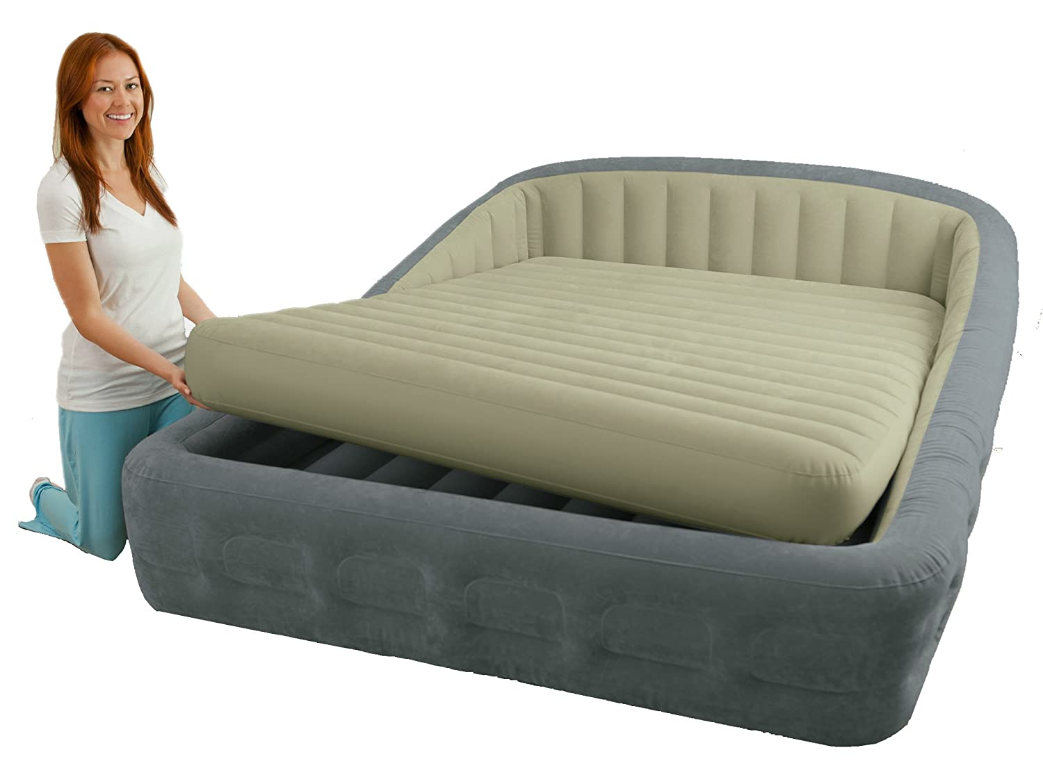 Lit Gonflable électrique Intex Premaire Dream Support 2 Personnes Lit Gonflable Lit Gonflable Intex Comfort Frame Xxl Matelas