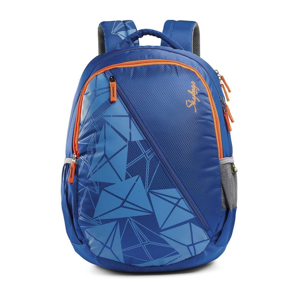 Skybags pogo polyester 32 liters blue school backpack amazon in bags wallets luggage