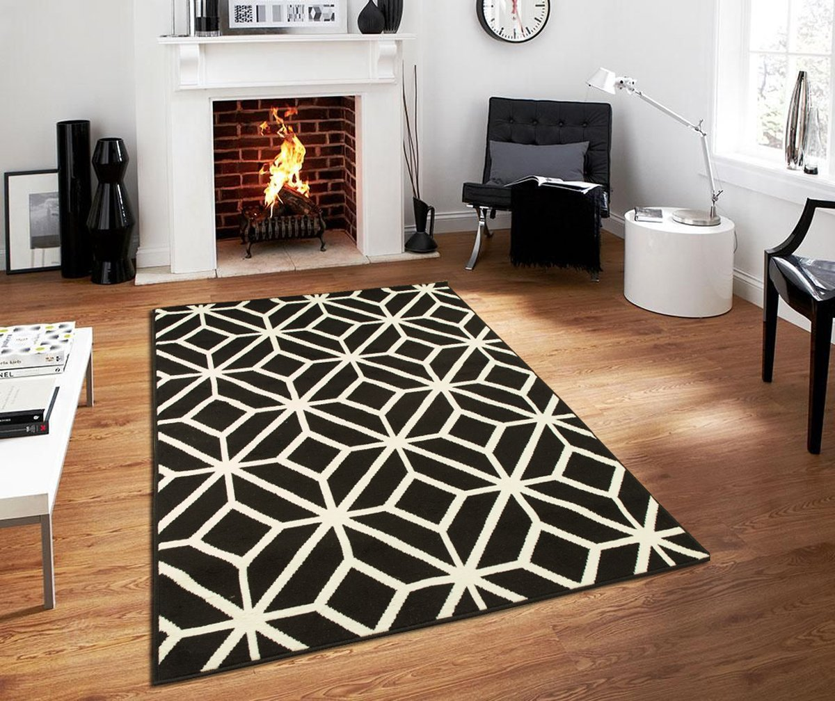 Contemporary Rugs For Living Room Modern Rugs 5x7 Black