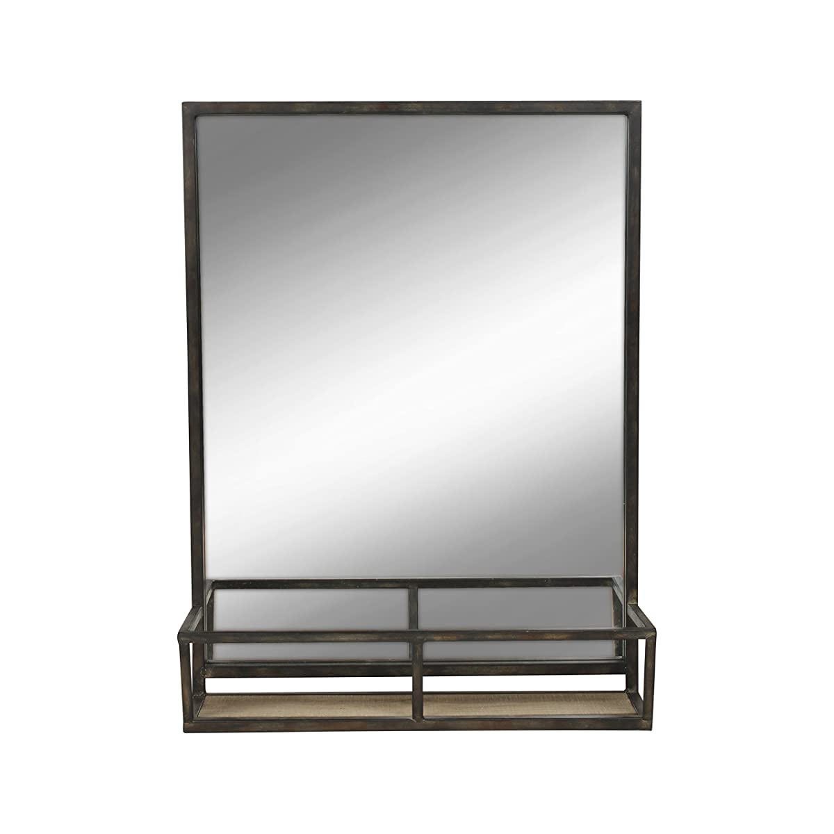Metal Wall Mirror With Shelf Kate And Laurel Jackson 22x29 Distressed Metal Mirror With