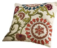 Decorative Throw Pillow: Mai Na Elegant Floral Embroidered ...