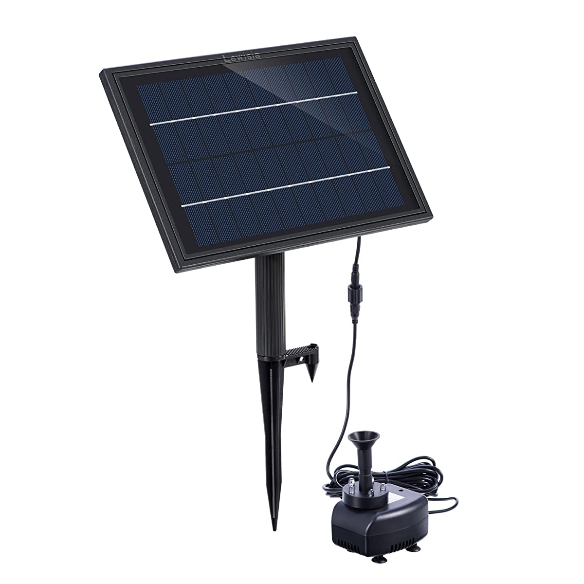 Solar Fountain Pump Lewisia Battery Backup Solar Fountain Pump With Led Lighting For