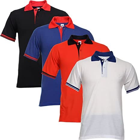 TSX Men's Cotton Blended Printed Polo T-Shirt