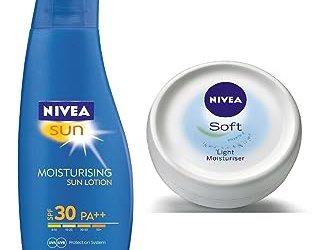 Nivea Sun Moisturising Lotion SPF 30, 75ml with Free Nivea Soft Cream