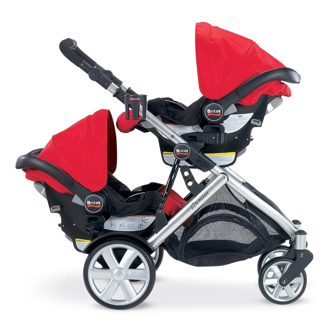 Britax Car Seat Double Stroller Stroll Air My Duo Double Stroller Babycenter