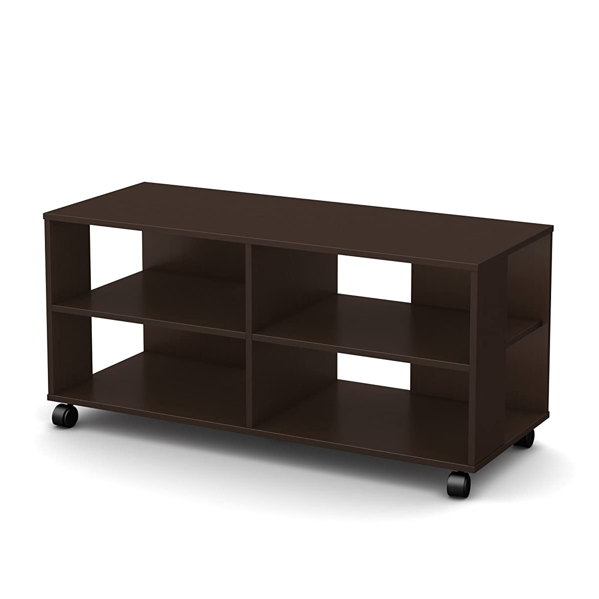 Tv Stand With Wheels Jambory Tv Stand Storage Unit On Casters Fits Tvs Up To