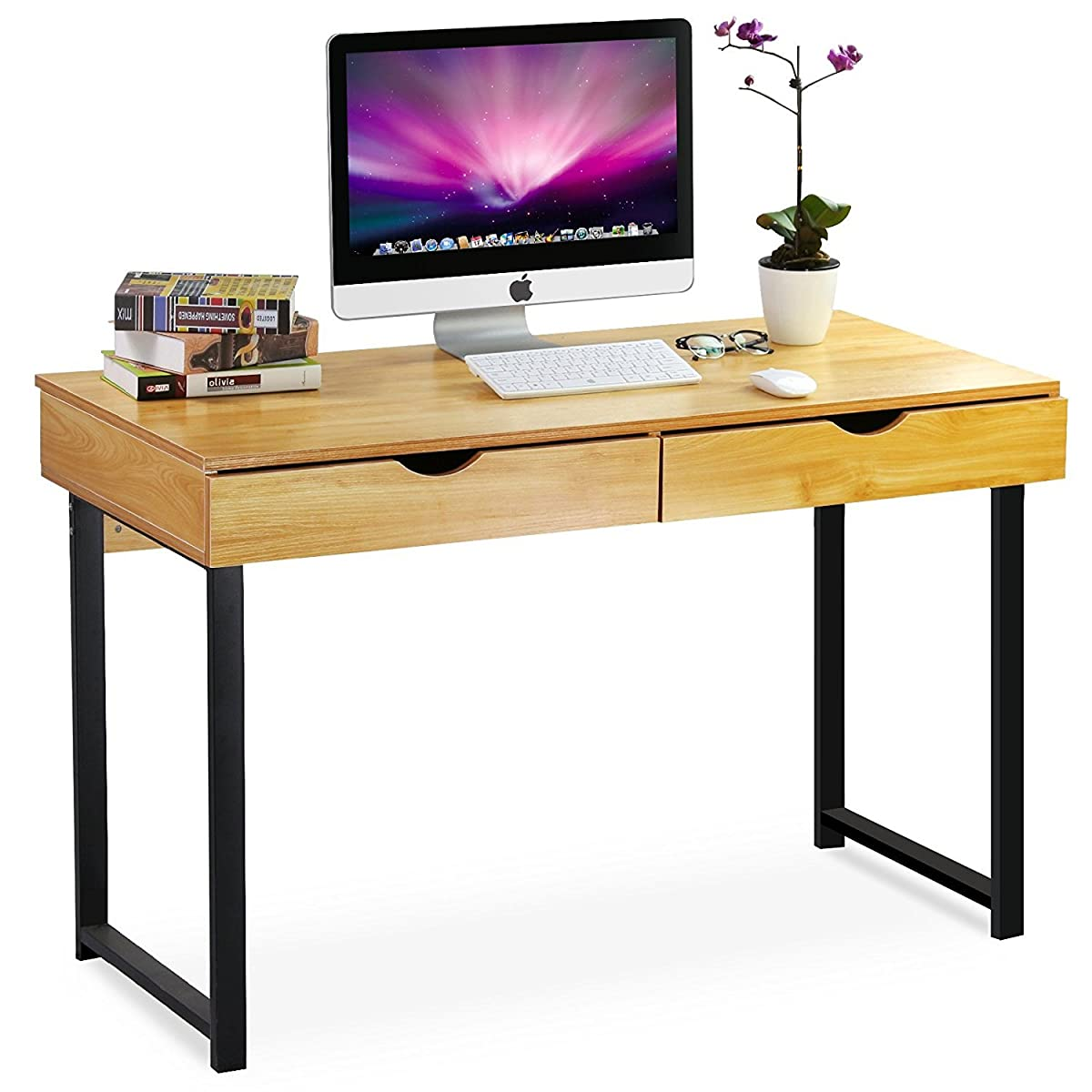 Schreibtisch Stylisch Tribesigns Computer Desk Modern Stylish 47 Quot Home Office