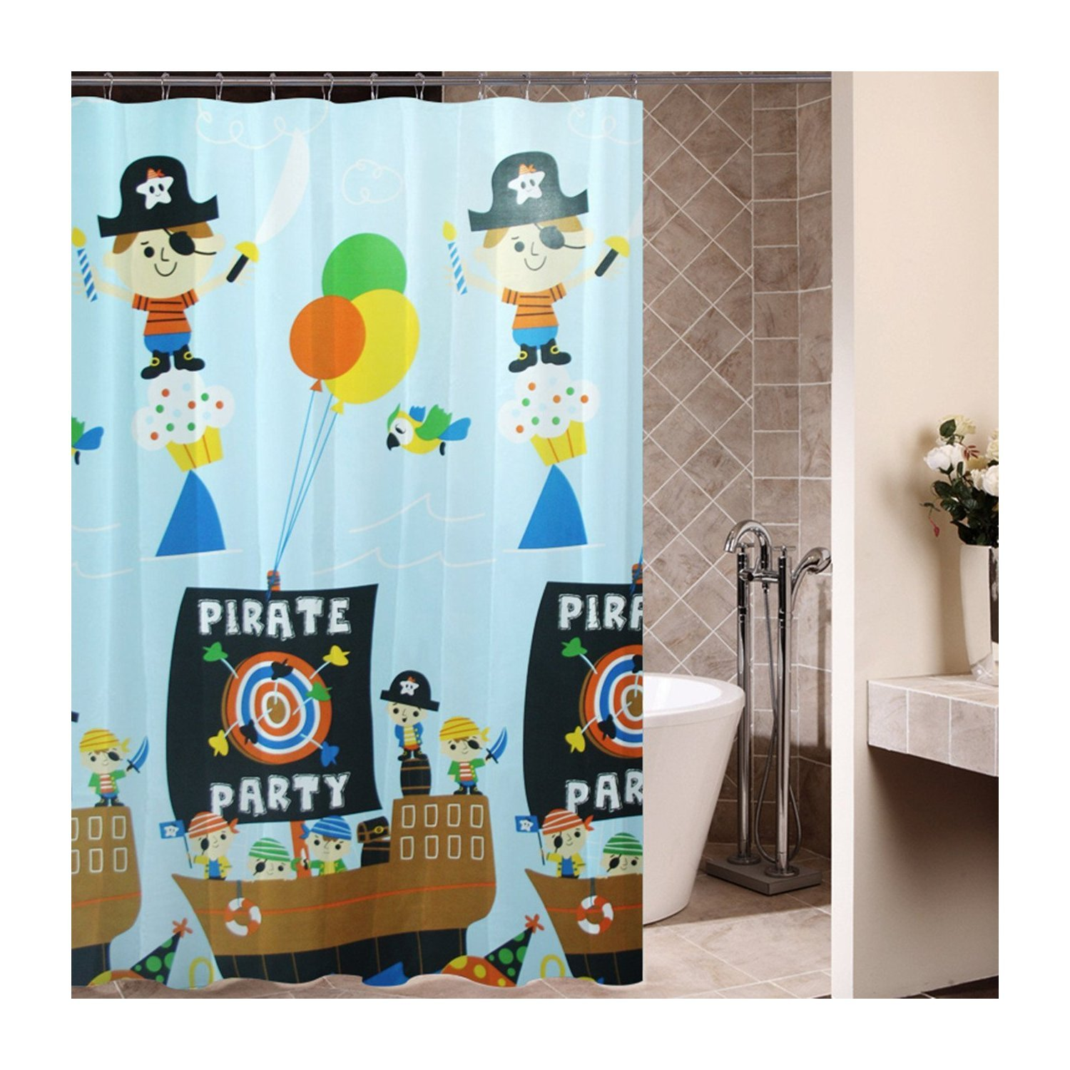pirate ship shower curtainclick for pricing and reviews artoon