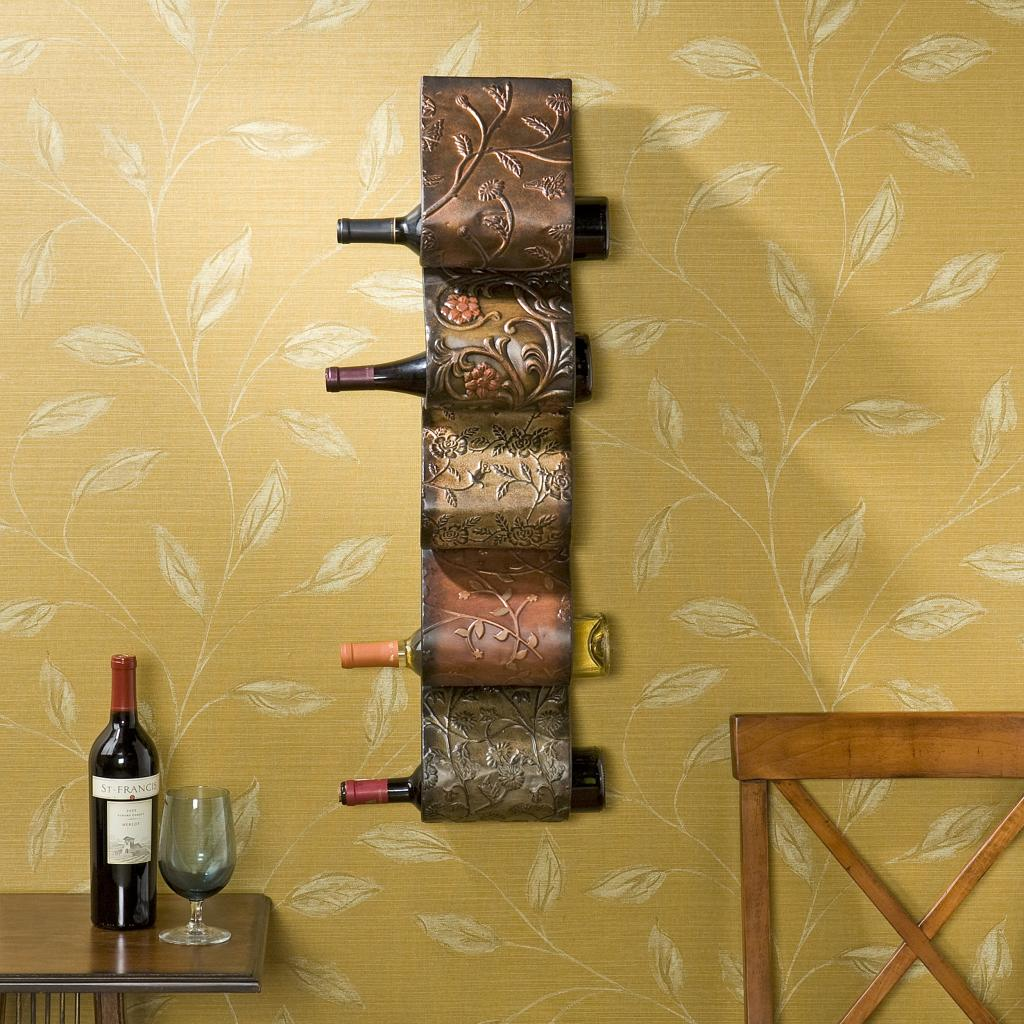 Hanging Bottle Rack Amazon Florenz Wall Mount Wine Rack Sculpture