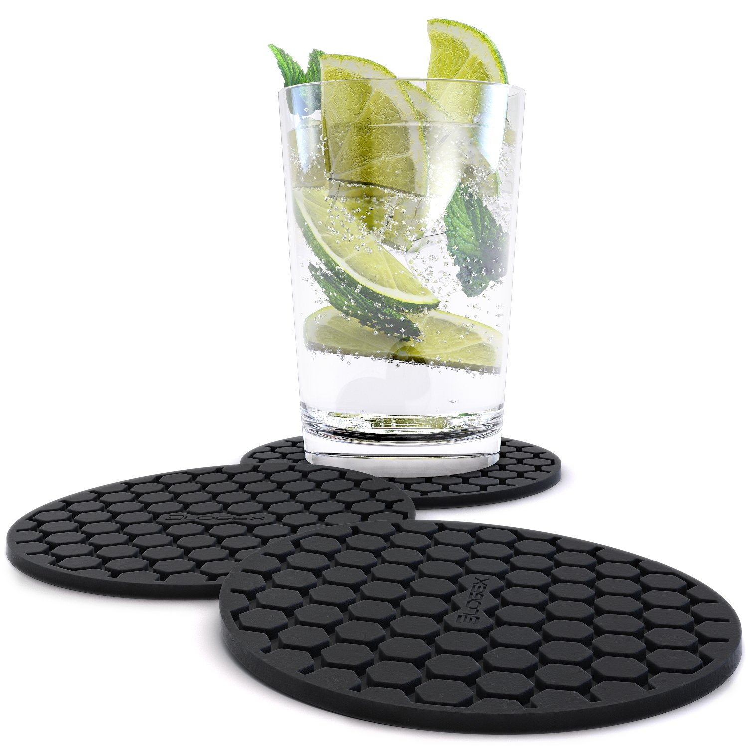 Drink Coasters Amazon Sleek Design Silicone Drink Coaster Set