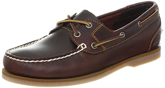 Timberland Women's Classic 2 Eye Boat Shoe, Brown, 6.5 M US