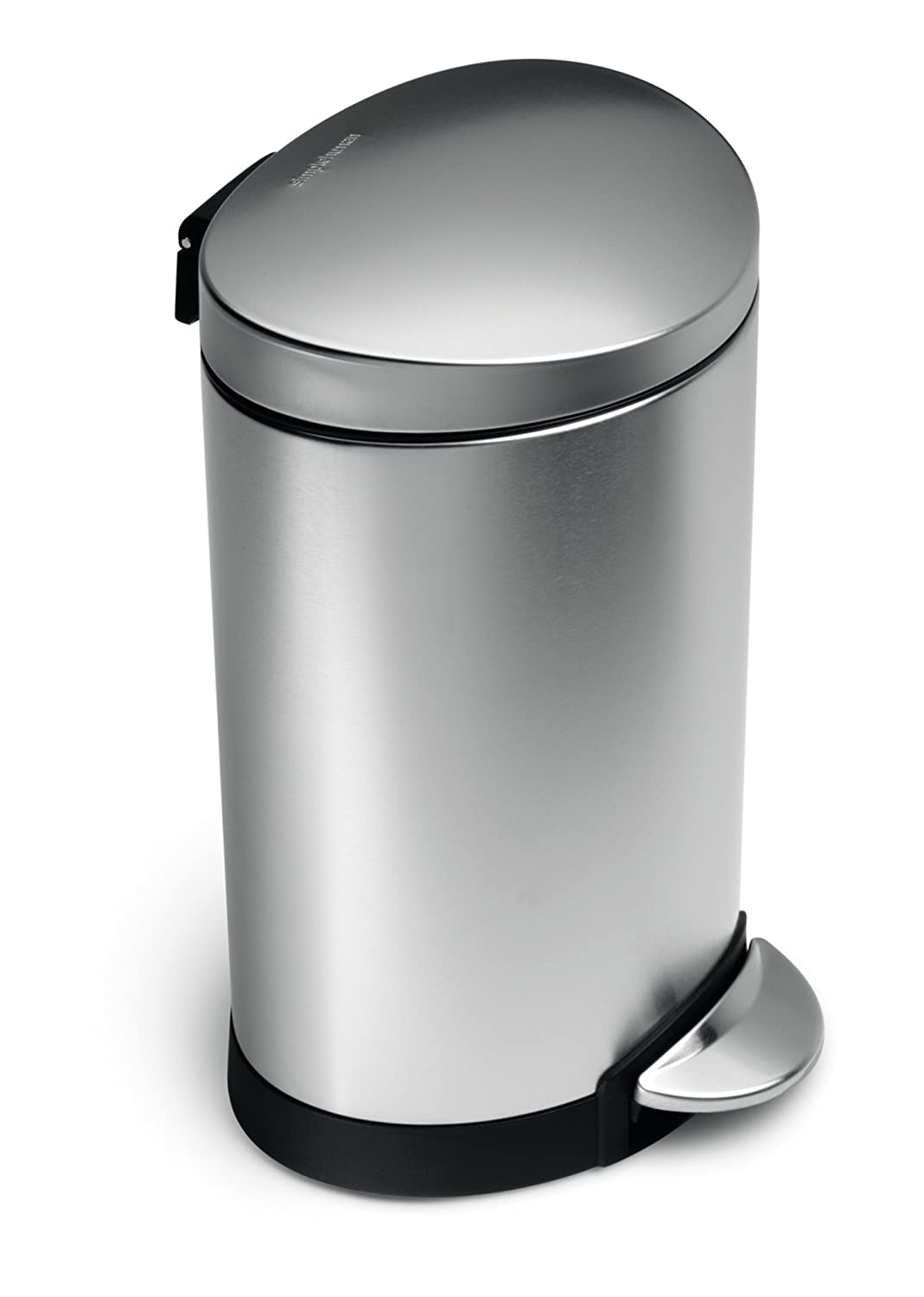 Trash Can With Lid Kitchen Stainless Steel Kitchen Trash Can Garbage Waste Bin Pedal