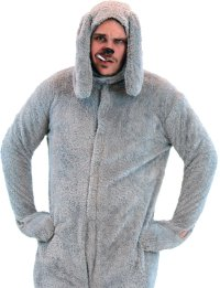Galleon - Costume Agent Wilfred Adult Deluxe Dog Costume