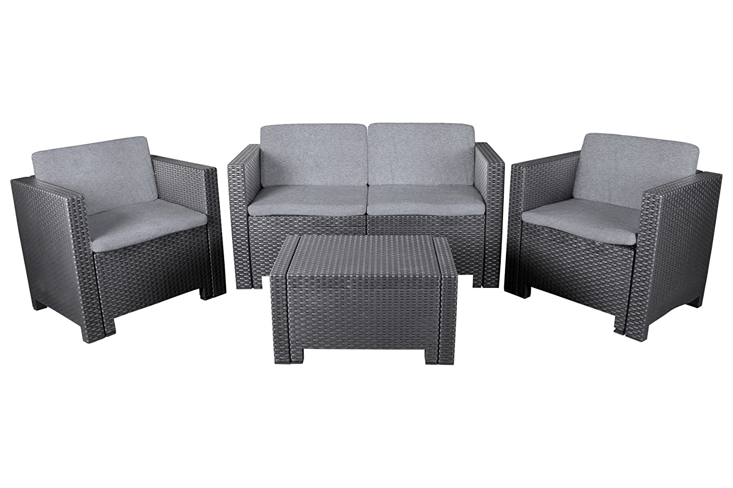 Allibert Lounge Sessel Allibert Lounge Set Quotcannes Quot Modische Rattanoptik 4 Tlg