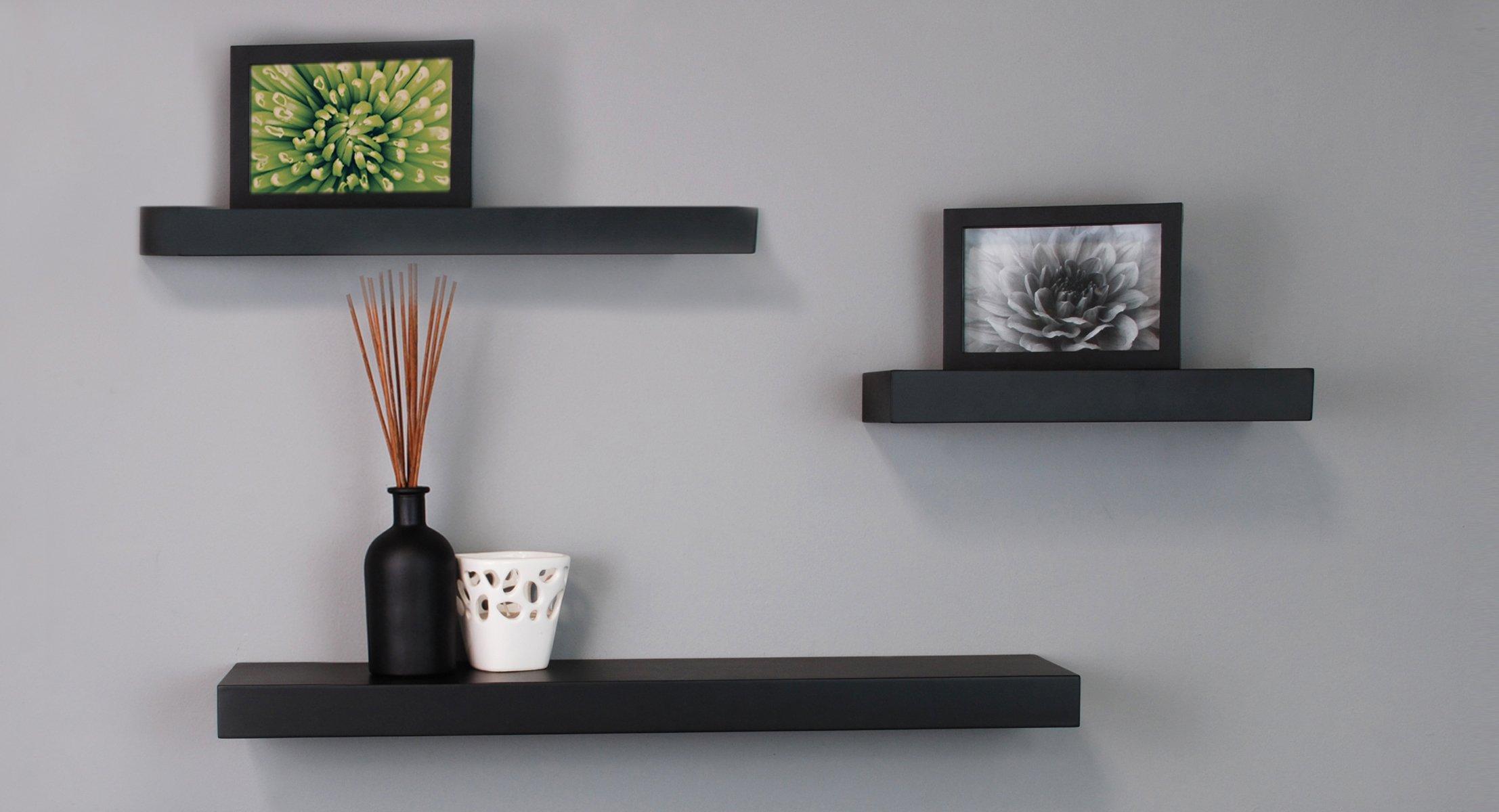 Black Floating Wall Shelves By Kiera Grace Mnml Living