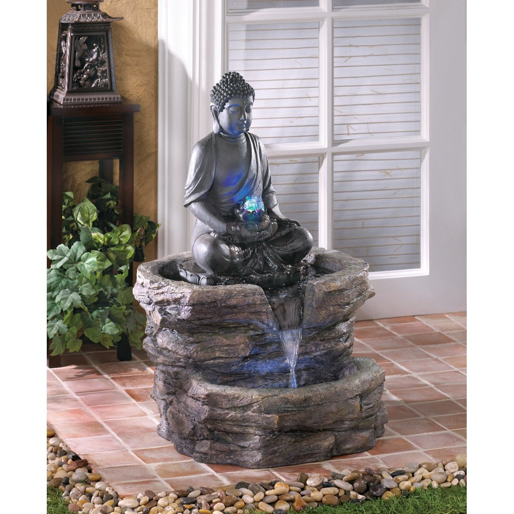 Jardin Zen Miniature Avec Fontaine Peaceful Buddha Statues For Garden: Zen And Meditation