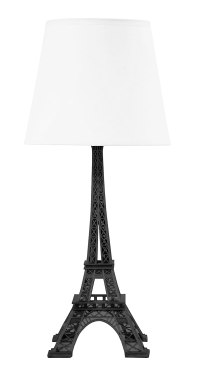 Eiffel Tower Table Lamp White Shade Living Room Bedroom ...