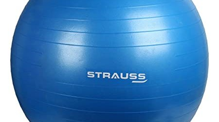 Strauss Anti Burst Gym Ball with Foot Pump, 65 Cm