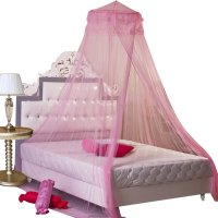 New Round Lace Curtain Dome Bed Canopy Netting Princess ...