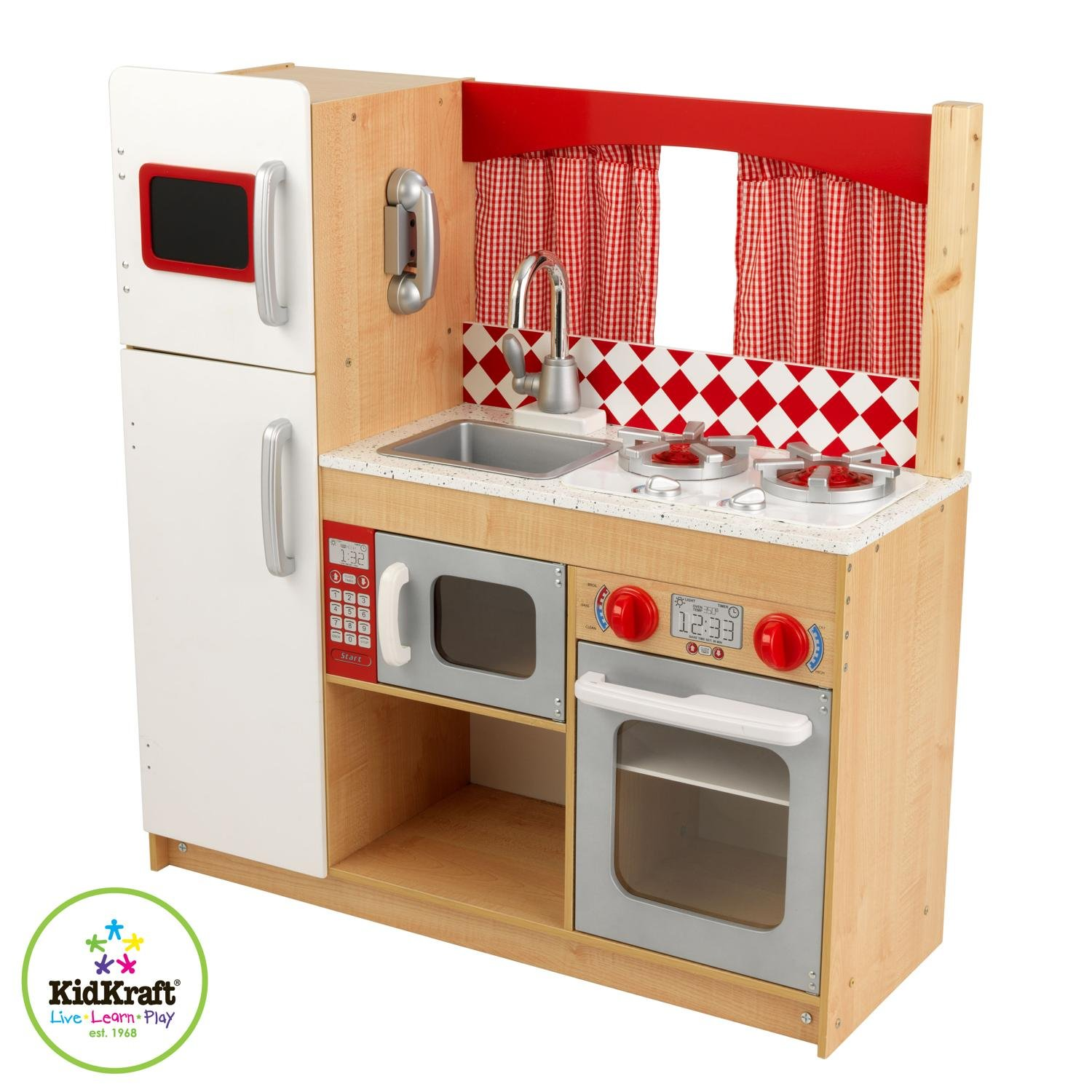 Childrens Toy Kitchen Wood Vs Quotelectronic Quot Plastic Play Kitchen Babycenter