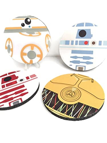 Star Wars The Force Awakens Droid Rubber Coasters