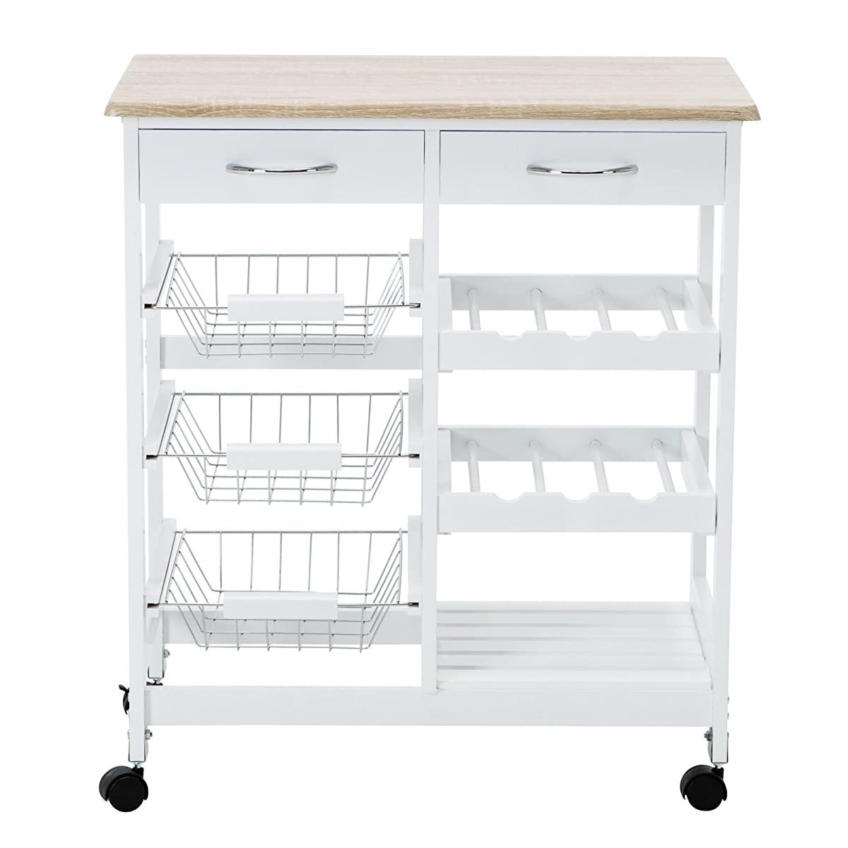 Kitchen Island Cart Wine Rack 4 Family Kitchen Trolley Island Cart Portable Rolling