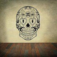 Sugar Skull Wall Decal Skull Wall Sticker Rock and Roll ...