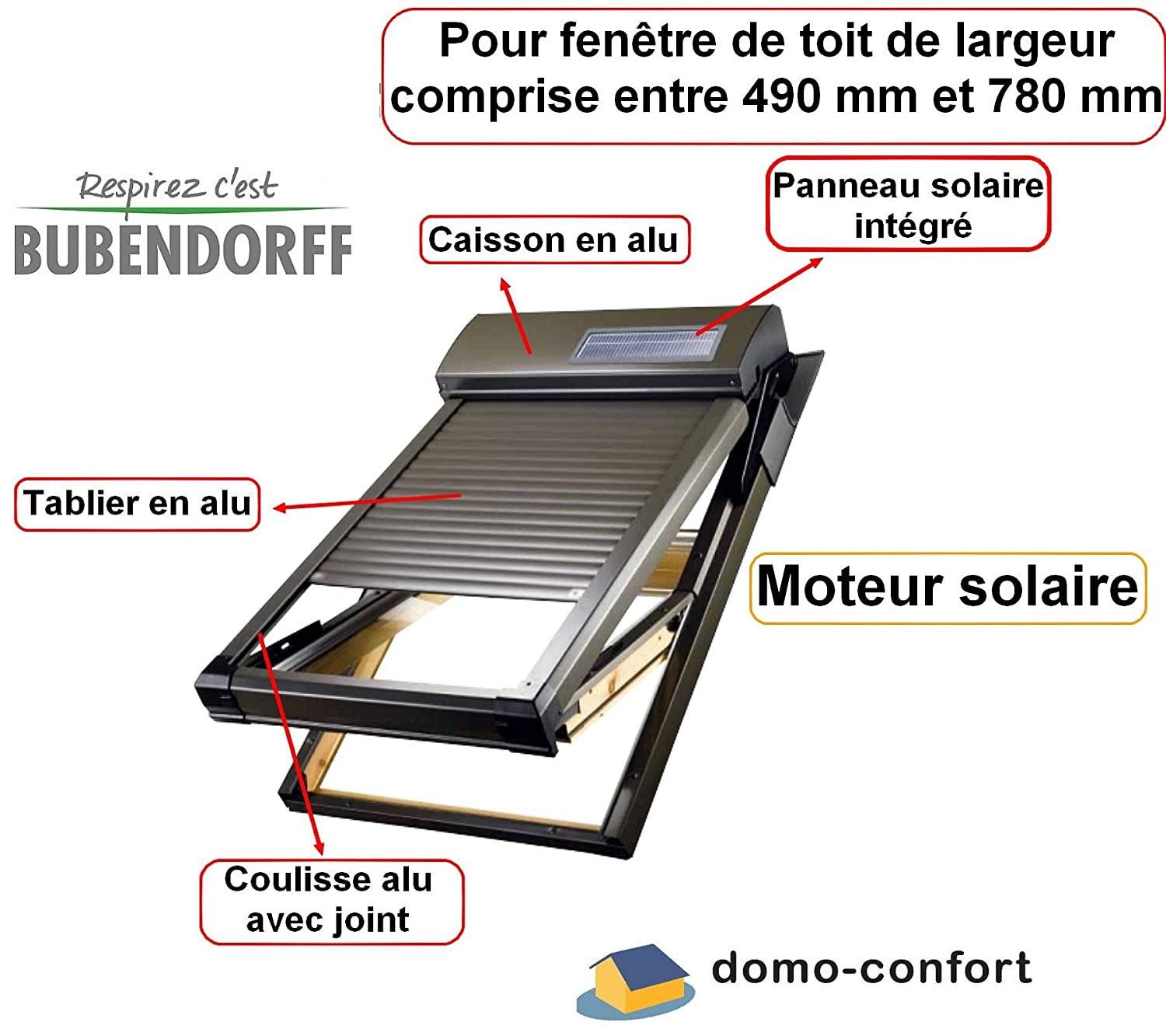 Store Occultant Electrique Velux Volet Roulant Velux Solaire 114 X 118