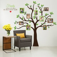 Timber Artbox Large Family Tree Photo Frames Wall Decal ...