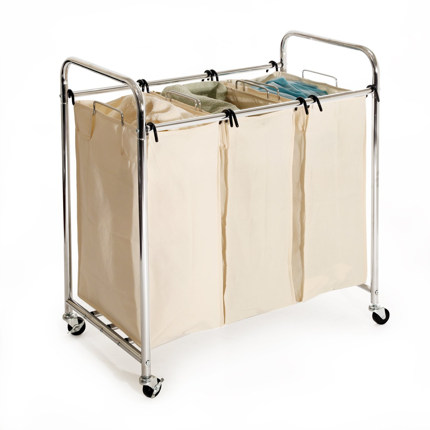 Canvas Hamper Bags Best Heavy Duty Laundry Sorter Cart 3 Bag Or 4 Bag Hampers