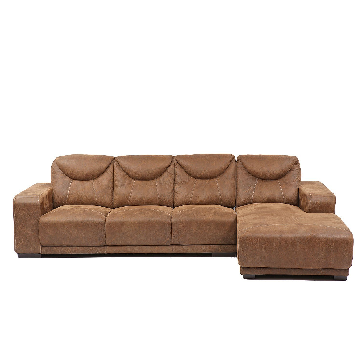 L Shape Sofa Set Snapdeal Evok Swiss L Shaped Three Seater Sofa Brown Available At