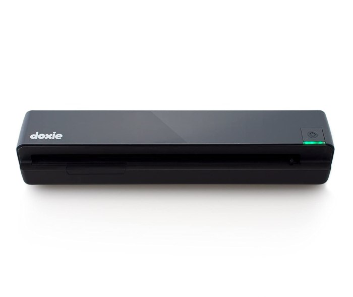 Doxie One – Standalone Scanner This is the mobile scanner we use – it records to a SD card and is battery powered.