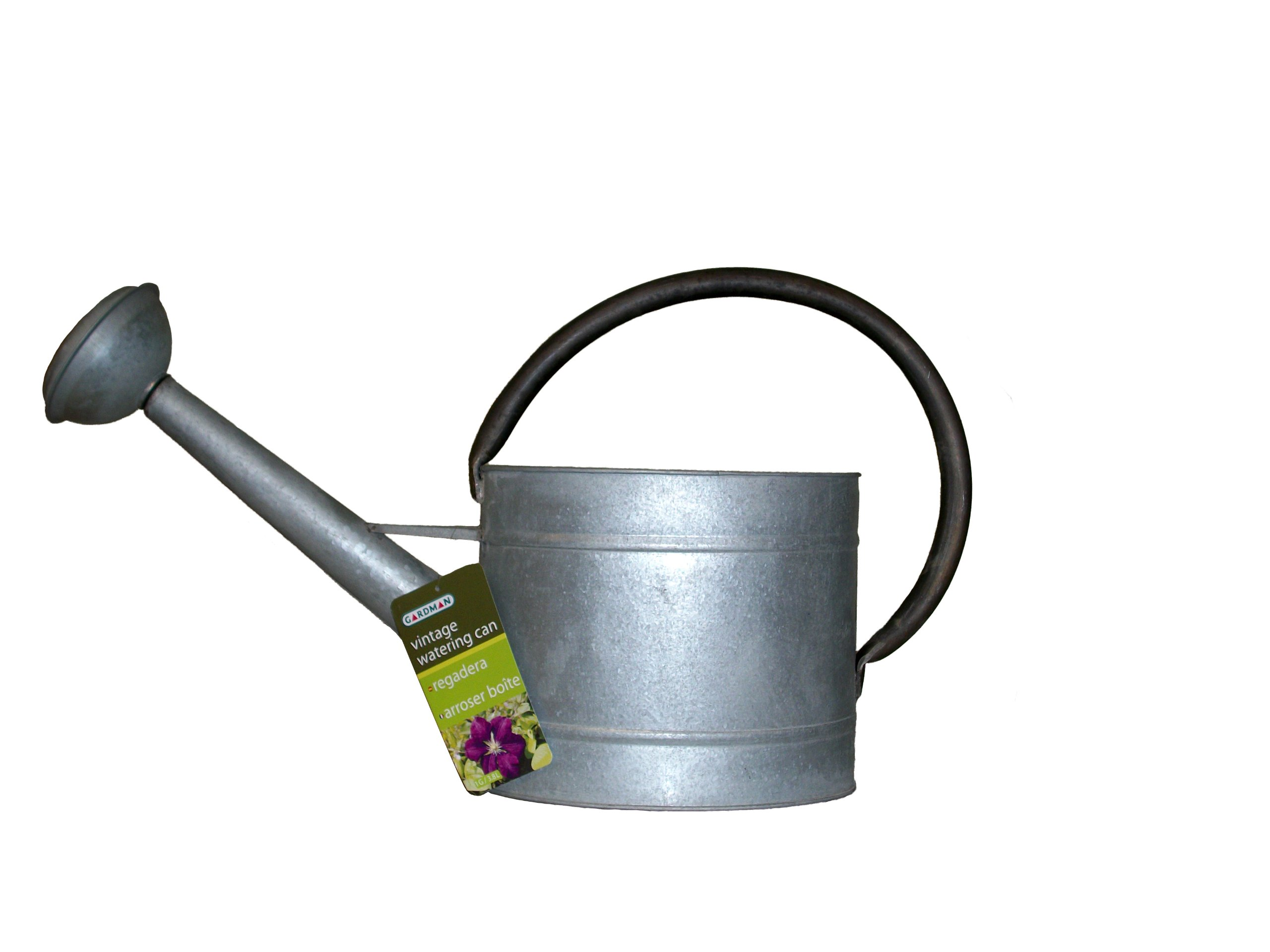 Watering Cans With Long Spouts Decorative Heavy Gauge Galvanized Steel Watering Can