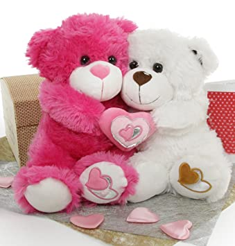 Cute Teddy Bear Live Wallpaper Free Download Couple Teddy Bears With Hearts Www Pixshark Com Images