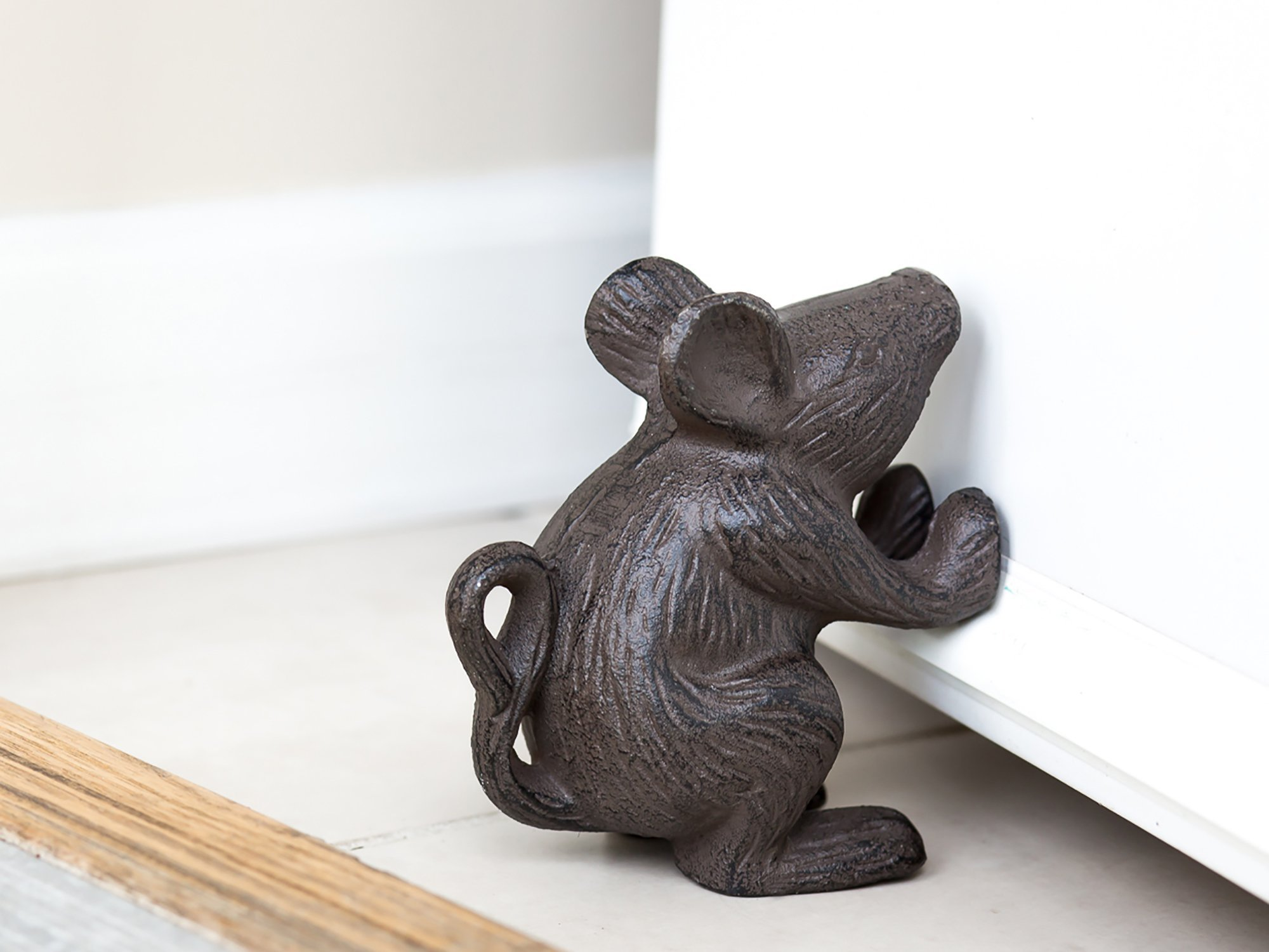 Rustic Door Stopper Galleon Cast Iron Mouse Rustic Door Stop