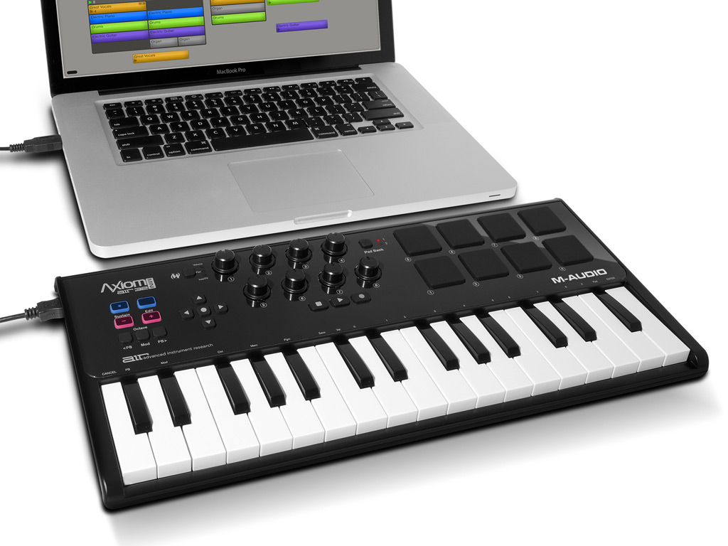Eurobox Nextgen Portable 43 32 Axiom Air Mini 32 Ultra Portable 32 Key Usb Midi Keyboard