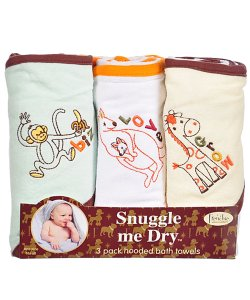 Set de serviettes de bain avec capuche Frenchie Mini Couture
