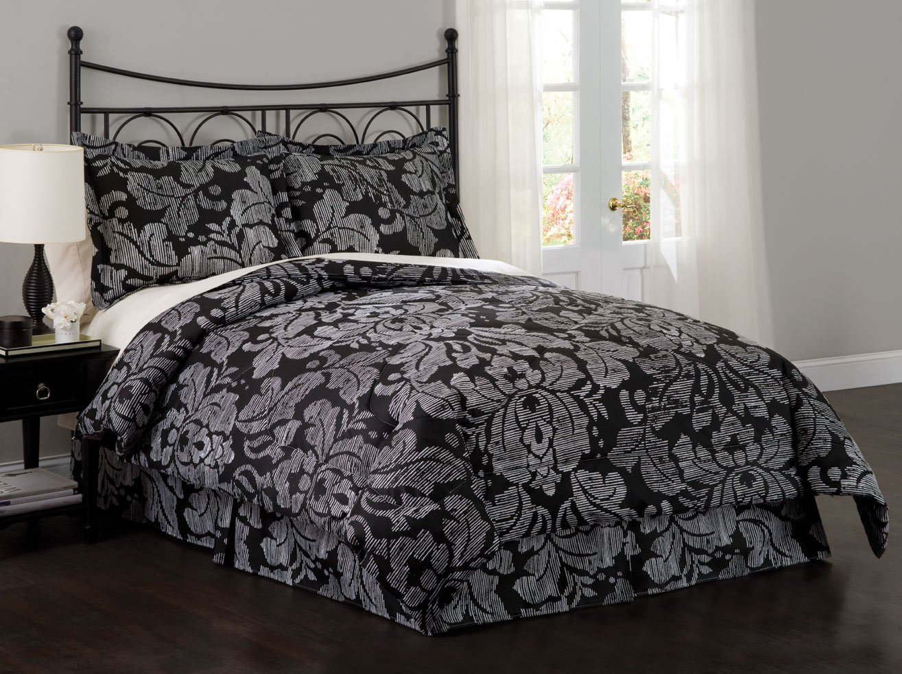 Black And Silver Bed Black And Silver Bedding