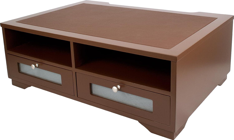Wood Printer Stand Office Desk Shelves Drawer Table Paper