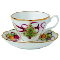 Christmas Tree Tea Cups and Saucers | Christmas Wikii