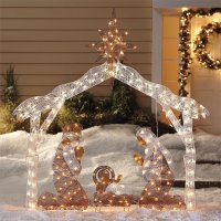 Nativity Scene Set Crystal Best Christmas Outdoor ...