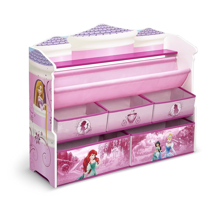 Book Toy Storage Organizer Disney Princess Kids Girls Room