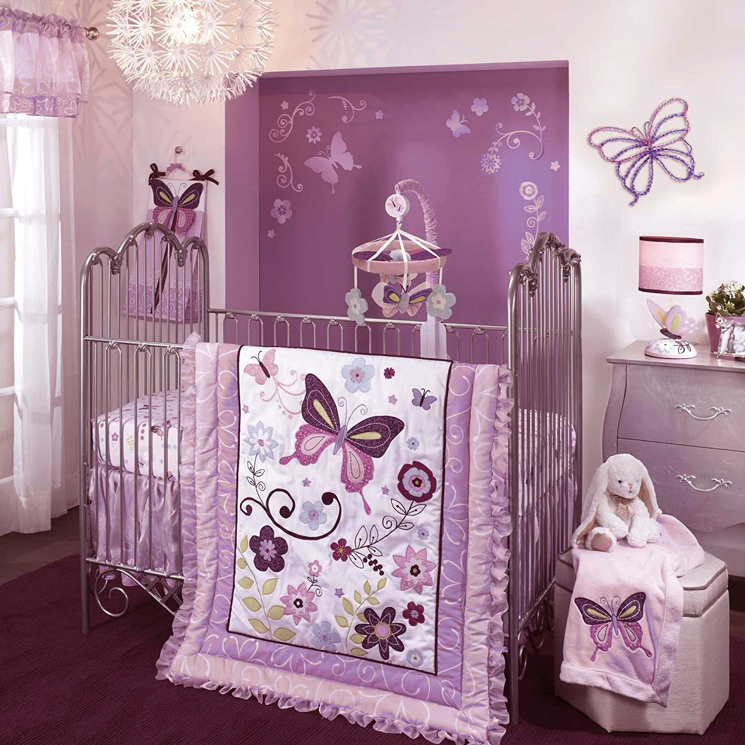 Butterfly Bedroom Themes Purple Baby Room